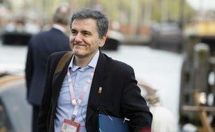 Le ministre grec des Finances, Euclide Tsakalotos, à Amsterdam le 22 avril 2016