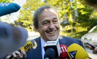 Michel Platini à son arrivée au tribunal arbitral du sport (TAS), le 29 avril 2016 à Lausanne