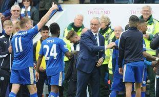 Les joueurs de Leicester après leur victoire sur Southampton