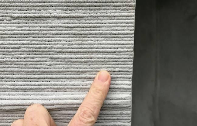 700 couches de béton ont été imprimées par un robot durant une vingtaine d'heures.