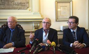 Jean-Claude Gaudin, Frank McCourt et Jacques-Henri Eyraud