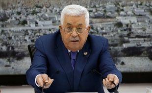 Le président de l'Autorité palestinienne, Mahmoud Abbas, le 25 juillet 2019 à Ramallah