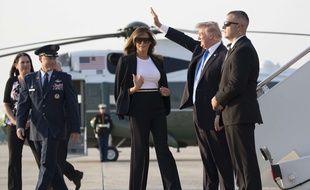 Donald et Melania Trump ont quitté Washington le 12 juillet 2017 pour un voyage de 48 heures en France.