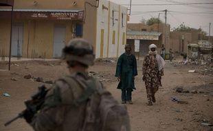 Un soldat français dans les rues de Kidal, au Mali, en juillet 2013.