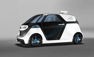 Le prototype de voiture autonome du groupe Akka, la Link and Go