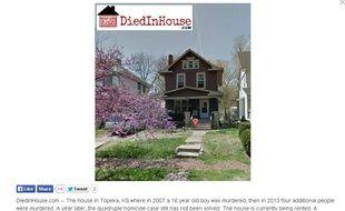 Une maison dans laquelle 4 personnes ont été assassinées, sur le site DiedInHouse.