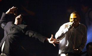 Les Bérurier Noir, lors d'un concert à Rennes, le 5 décembre 2003.