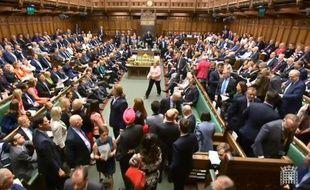 Capture d'écran d'une séance à la chambre des Communes, à Londres (2018).