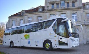 L'autocar électrique acheté par la ville de Drancy.