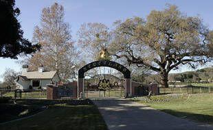 L'entrée arrière du ranch Neverland en Californie le 17 décembre 2004.