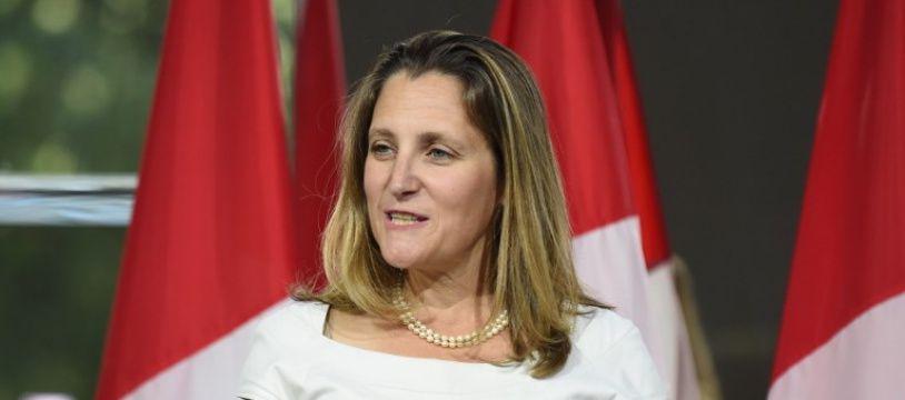 Chrystia Freeland, la ministre des Affaires Etrangères canadienne à Washington aux Etats-Unis.