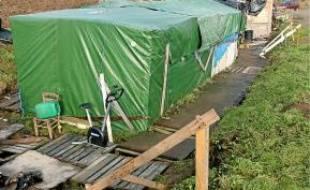 Le camp de Norrent-Fontes sur l'A26.