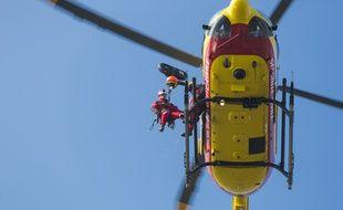 Photo d'illustration d'un hélicoptère de secours.
