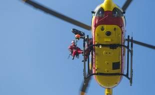Photo d'illustration d'un hélicoptère de secours, en 2016 en région parisienne.