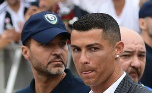 Cristiano Ronaldo lors de sa présentation avec la Juve.
