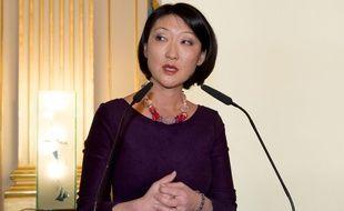 Fleur Pellerin au ministère de la Culture pour la passation de pouvoir à Audrey Azoulay le 12 février 2016