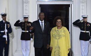 Bmlaise Compaoré et sa femme avant un diner avec le président Obama