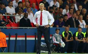 Arsène Wenger lors de PSG-Arsenal, le 13 septembre 2016.