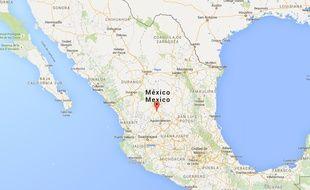 Google map de l'Etat du Zacatecas au Mexique.