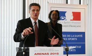 Daniel Costantini, ex sélectionneur de l'équipe de France de handball et Rama Yade, ancienne secrétaire d'État chargée des Sports.