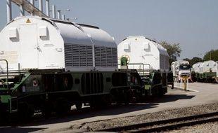 Un train de combustibles irradiés italiens à destination de l'usine Areva de Beaumont-Hague (Manche) est arrivé mercredi sans encombre à son terminus, à Valognes, a constaté un photographe de l'AFP.