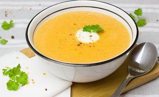 (Illustration) Une soupe carotte gingembre.