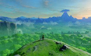 Des paysages grandioses dans le vaste monde d'Hyrule.