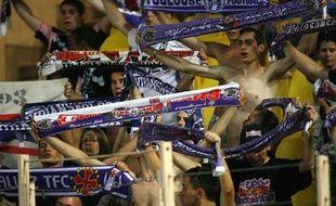 Les supporters toulousains, le 8 août 2009 à Monaco.