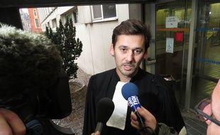 L'avocat des accusés, Guillaume Ghestem, à la sortie du tribunal.