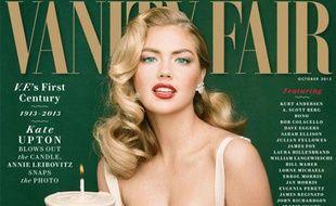 Kate Upton fait la une du numéro anniversaire de «Vanity Fair» américain.