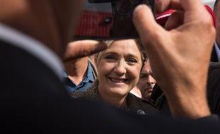 Marine Le Pen à Bruz le 17 septembre 2015.