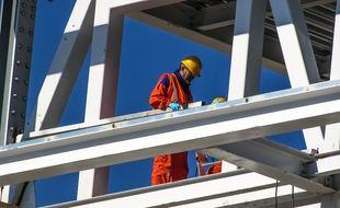 L'ouvrier travaillait sur un chantier du Havre. (illustration)