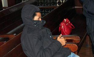 Fritz-Joly Joachin, soupçonné de liens avec le terroriste Chérif Kouachi le 12 janvier 2015 au tribunal d'Haskovo en Bulgarie