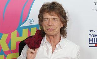 Mick Jagger lors du vernissage de l'exposition consacrée aux Stones à New York