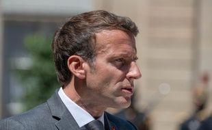 Emmanuel Macron à l'Elysée le 1er juin 2021.