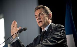Nicolas Sarkozy en meeting en Seine-Saint-Denis le 11 mai 2015.
