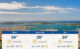 Météo Toulon: Prévisions du mercredi 15 juillet 2020