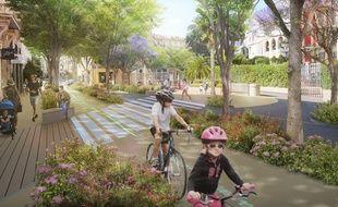 Des pistes cyclables vont remplacer des couloirs de bus (comme ici, au niveau du square Joffre)