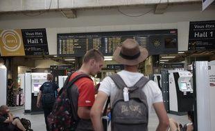 Des vacanciers se sont retrouvés laissés sur le quai à cause de la panne SNCF, entre le 30 juillet et le 2 août 2017.