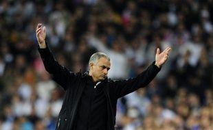 José Mourinho lors de l'élimination du Real Madrid contre le Bayern Munich, le 25 avril 2012.