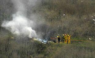 La zone du crash de l'hélicoptère transportant Kobe Bryant, le 26 janvier 2020.