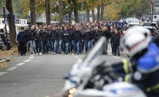 La manifestation des policiers à Nantes