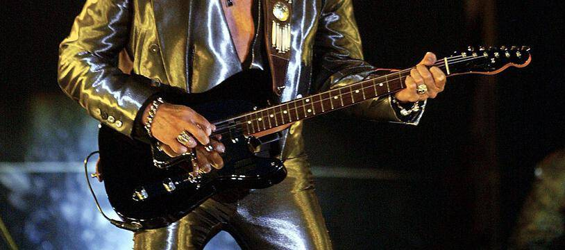 Johnny Hallyday en concert à Marseille, en 2003.