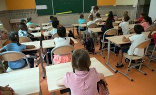 Des élèves de primaire le 1er septembre 2015 à Marseille