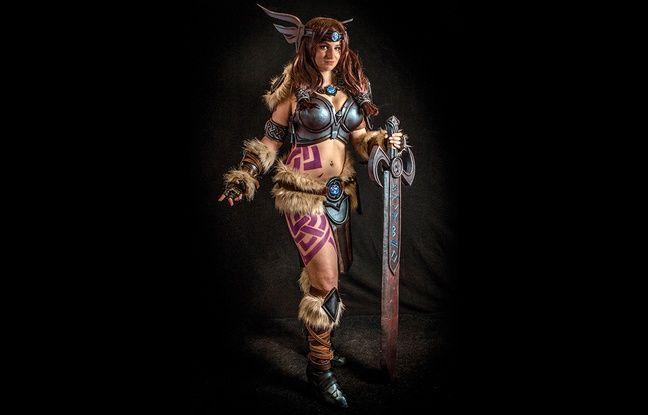 Le costume de Freya porté par Vilina à Lille lors des Geeksdays.