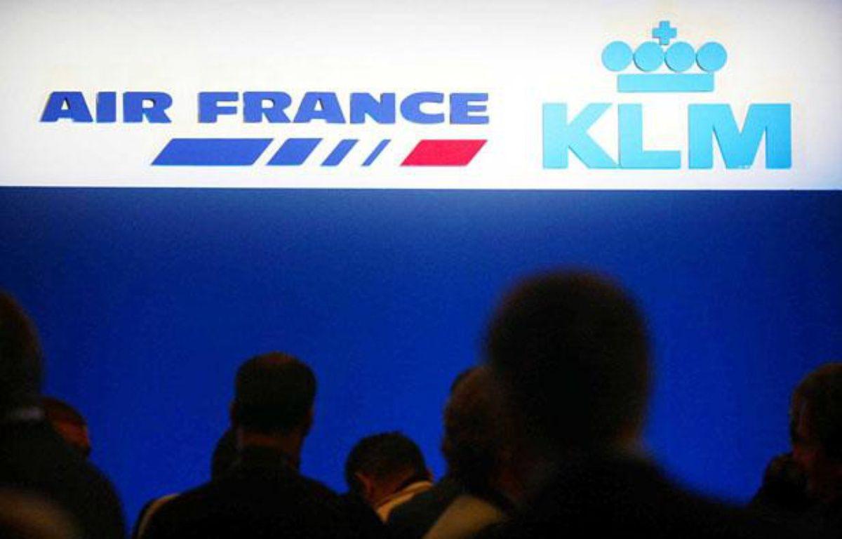 Logos d'Air France et KLM. –  FACELLY/MEIGNEUX/SIPA