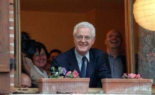 Lionel Jospin à Cintegabelle en 1997, le soir de la victoire du PS aux législatives.