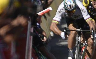 A l'issue de la 4e étape du Tour 2017, le Slovaque Peter Sagan est exclu pour avoir provoqué la chute dans le sprint de plusieurs coureurs, dont Mark Cavendish.