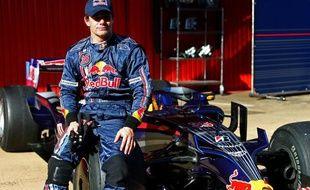Le pilote de rallye français Sébastien Loeb, lors d'essais au volant d'une Red Bull, le 17 novembre 2008 à Barcelone.