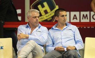 Thierry Anti et son adjoint Grégory Cojean..  @Pierre Minier/Ouest Medias/Sipa/